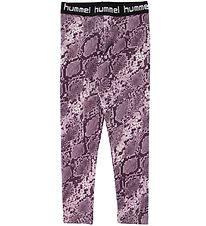 Hummel Tights - HMLMimmi - Mauve Shadow/Snake print