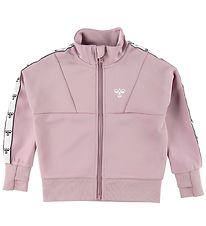 Hummel Cardigan - HMLLilly - Mauve Shadow w. Logo