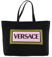 Versace Changing Bag - Black w. Rose