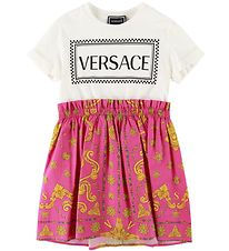 Versace Dress - Pink/White