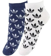 adidas Originals Ankle Socks - 2-pack - Blue/White