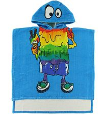 Stella McCartney Kids Bath poncho - Blue w. Monster