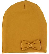 Racing Kids Beanie - Curry w. Bow