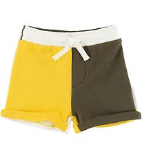 Stella McCartney Kids Sweatshorts - Khaki/Yellow/White