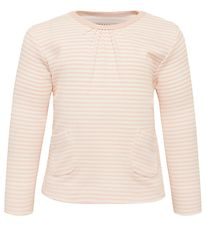 Fixoni Long Sleeve Top - Kiss - Peach Whip w. Stripes
