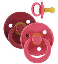 Bibs Dummies - Size 2 - 2-pack - Coral & Ruby