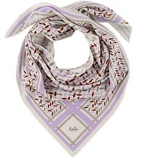 Lala Berlin Scarf - Triangle Trinity Confetti S - Lilac On Alaba