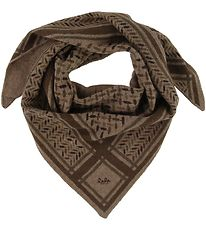 Lala Berlin Scarf - Triangle Trinity Confetti S - Chocolate On B