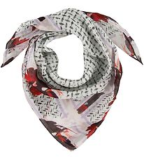 Lala Berlin Scarf - Cube Bloom - Flower Watermelon