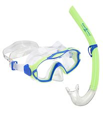 Aqua Lung Snorkeling Set - Combo Meerkat/Pogo Jr - Lime/Blue