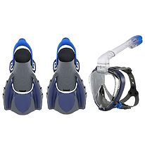 Aqua Lung Snorkeling Set - Smart Set Adult - Charcoal/Navy