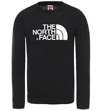 The North Face Long Sleeve Top - Black w. Logo