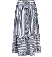 The New Skirt - Ocie - Navy/White w. Pattern