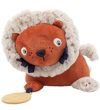 Sebra Activity Soft Toy - Lee The Lion - Sorbet Orange