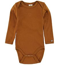 Smallstuff Bodysuit l/s - Maple Syrup w. Star