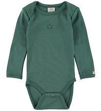 Smallstuff Bodysuit l/s - Dark Green w. Star