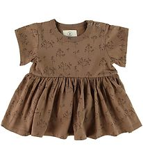 Gro Dress- Ditte - Umber/Flowers