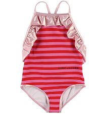 Little Marc Jacobs Swimsuit - Red/Pink Stripes w. Ruffle