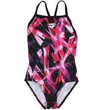 Arena Swimsuit - Night Lights JR - Black/Pink