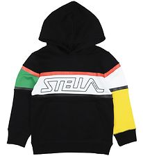Stella McCartney Kids Hoodie - Black/White w. Logo