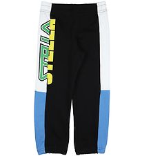 Stella McCartney Kids Sweatpants - Black/White/Blue