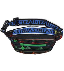 Stella McCartney Kids Bum Bag - Black w. Rainbow Pattern