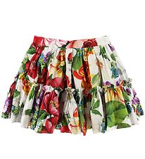 Dolce & Gabbana Skirt - Blooming - White w. Flowers