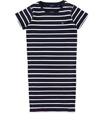 GANT Dress - Breton Striped - Navy/White