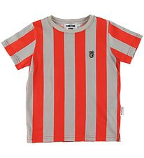 Sometime Soon T-shirt - Henry - Red/Grey Stripes