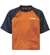 Hummel Teens T-shirt - HMLMelody - Navy/Brown