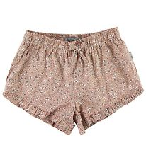 Wheat Shorts - Lea - Misty Rose w. Flowers