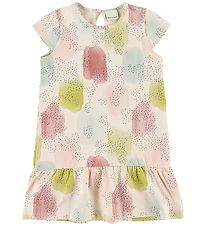 En Fant Dress - Rose w. Pattern/Dots