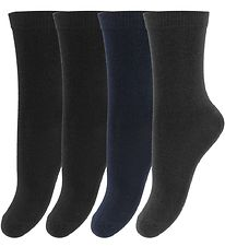 Melton Socks - 4-pack - Bamboo - Navy/Black/Gray