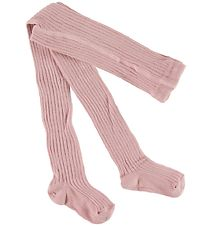 Melton Tights - Rib - Dusty Rose