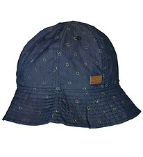 Melton Summer Hat - UV30 - Blue Denim w. Flowers