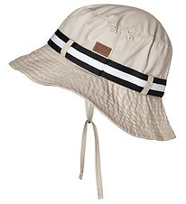 Melton Bucket Hat - UV30 - Beige w. Tape