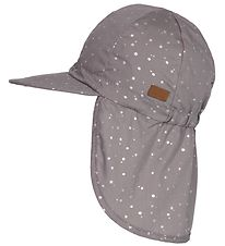 Melton Legionnaire Hat - UV30 - Grey w. Silver Dots