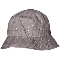 Melton Bucket Hat - UV30 - Grey w. Silver Dots