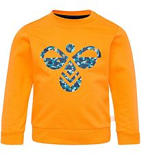 Hummel Sweatshirt - Lime - Orange w. Logo