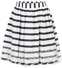 Creamie Skirt- White/Total Eclipse