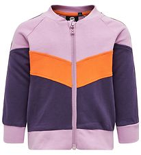 Hummel Zip Cardigan - Veronica - Purple/Orange
