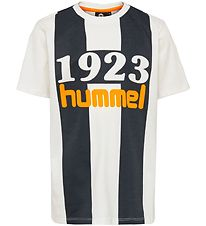Hummel T-shirt - Huntly - White/Black w. Logo