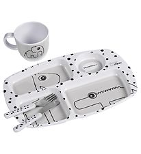 Done By Deer Dinner Set - Happy Dots - Grey