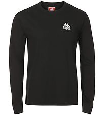 Kappa Long Sleeve Top - Wincy - Black w. Logo