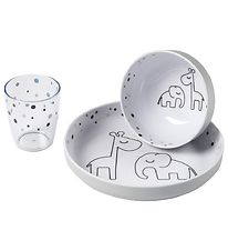 Done By Deer Dinner Set - Happy Dots Yummy - Grey