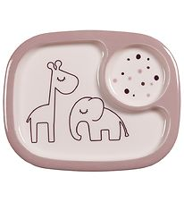 Done By Deer Plate - 2 Compartments - Dreamy Dots Yummy - Powder