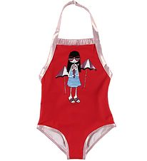 Little Marc Jacobs Swimsuit - Red w. Girl