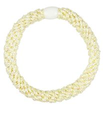 Kknekki Hair Tie - Light Yellow Glitter