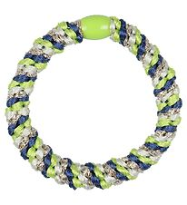 Kknekki Hair Tie - Dusty Blue/Lime Glitter