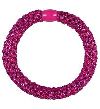 Kknekki Hair Tie - Electric Pink Glitter